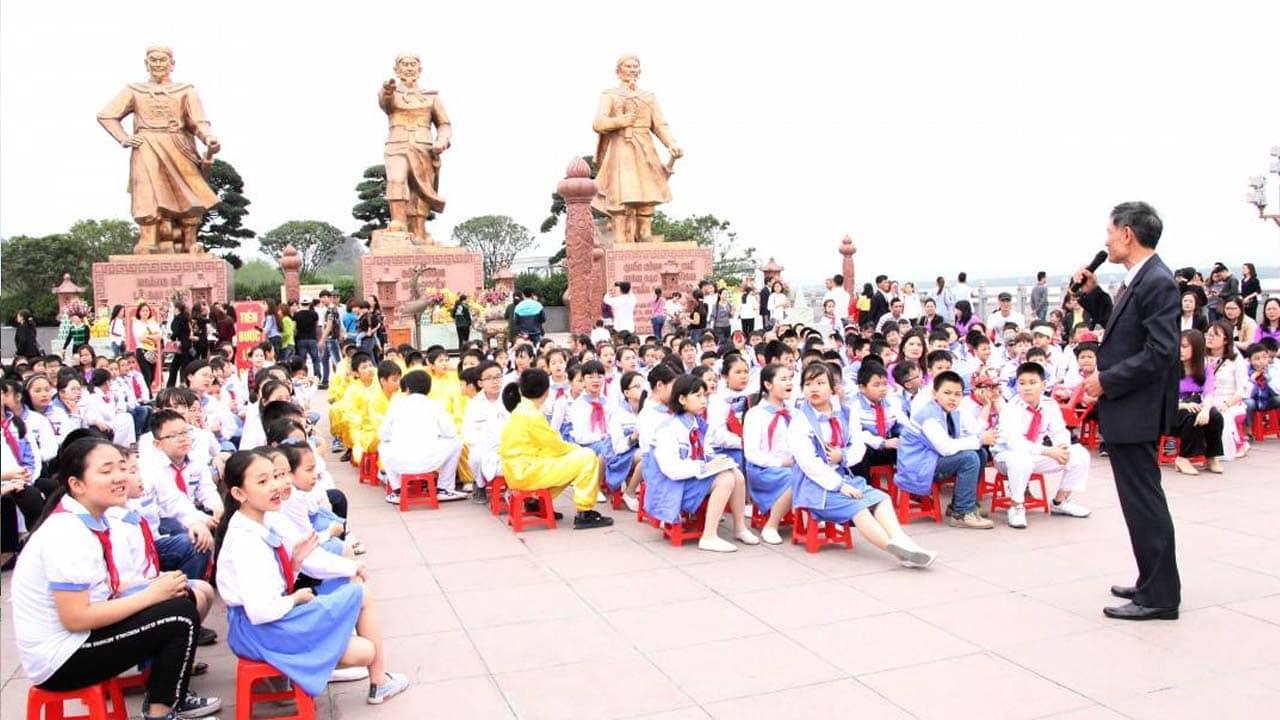 Khu di tích Bạch Đằng Giang là điểm đến thu hút các học sinh tới tham quan. Nguồn: Internet