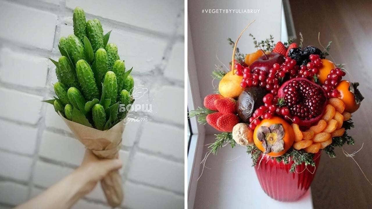 Những bó hoa từ rau củ quả cực ngầu tặng quà 8/3 cho mẹ