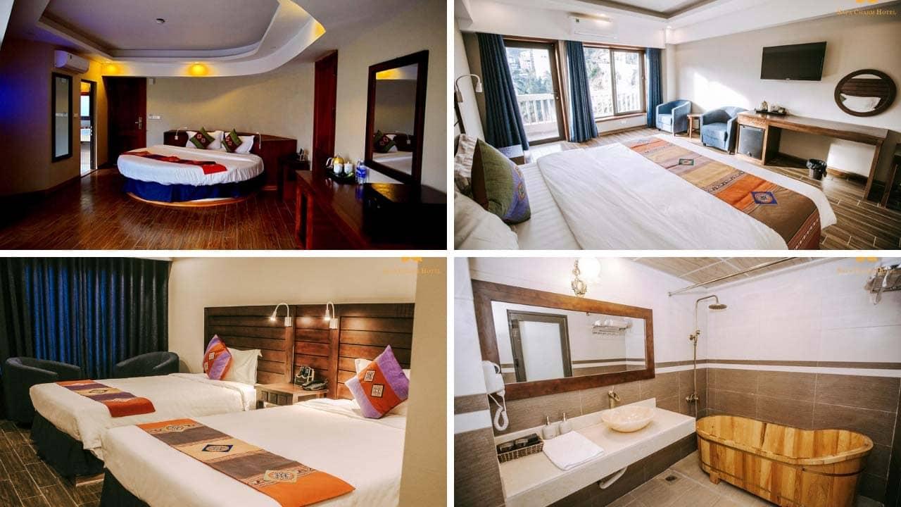 Hệ thống phòng nghỉ tại khách sạn Charm Sapa
