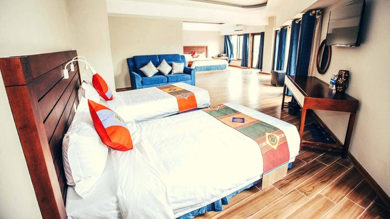 Phòng dành cho gia đình tại khách sạn Charm Sapa có không gian rộng rãi