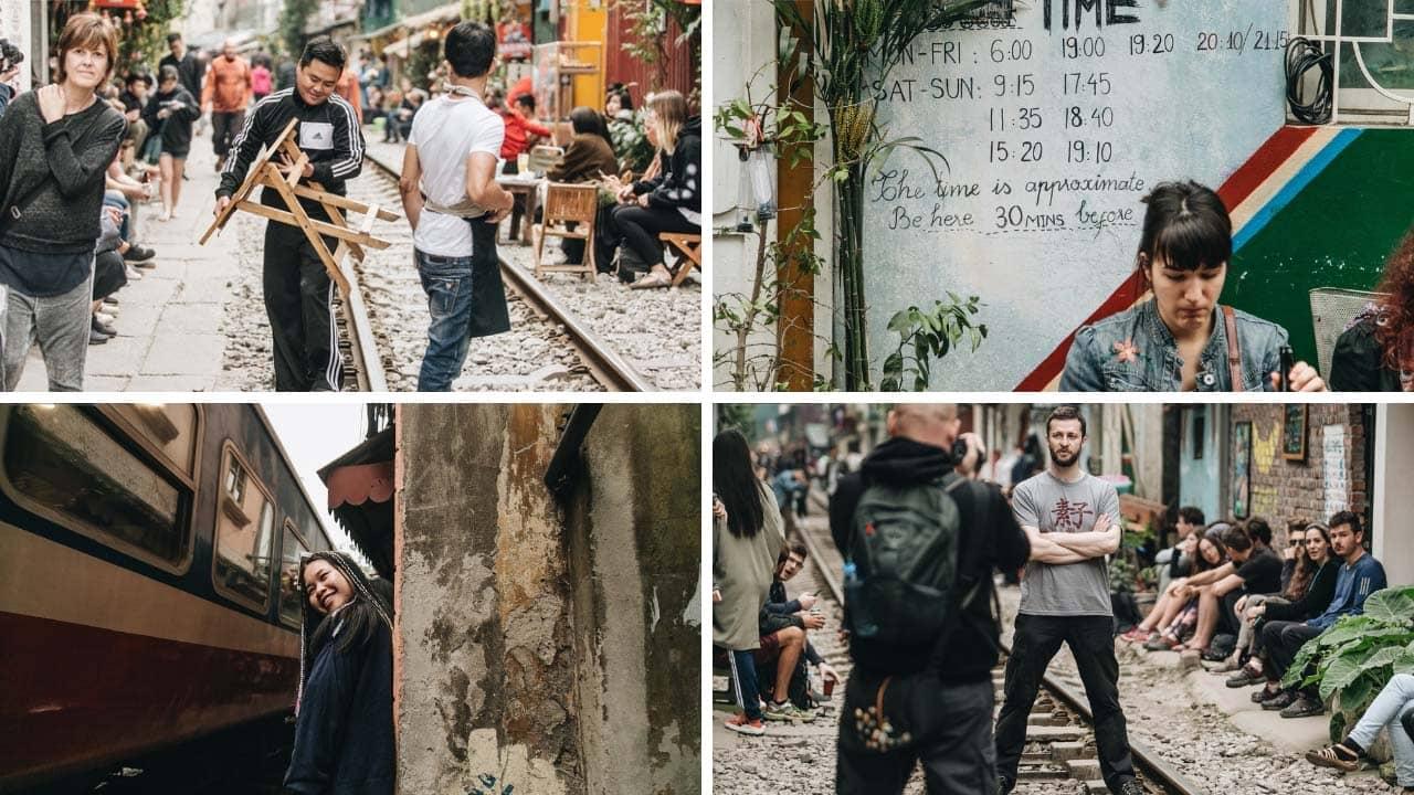 Những hình ảnh tập nập ở xóm đoàn tàu (nguồn ảnh kênh 14)