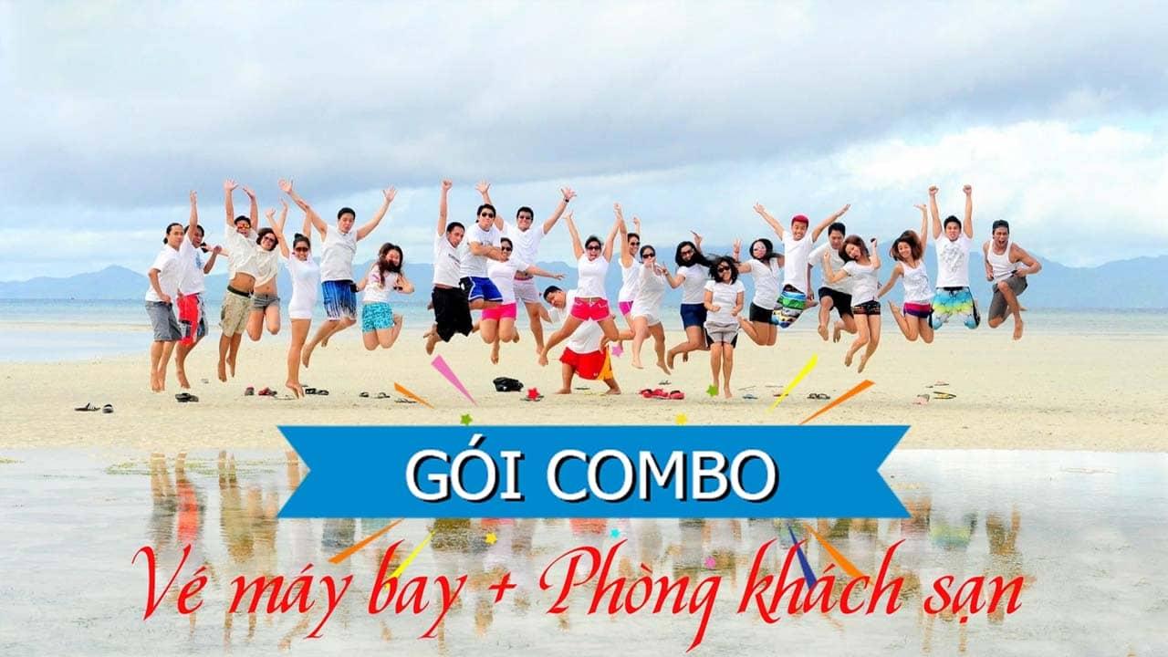 Combo Hạ Long bao gồm phí di chuyển và đặt phòng khách sạn là loại đa dạng và phổ biến nhất. Nguồn: Internet