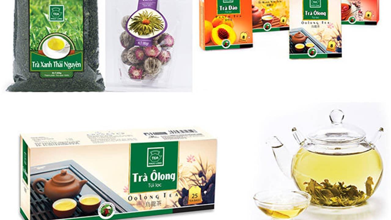 Trà Phúc Long được đóng gói ở nhiều dạng như: trà hộp, trà gói, trà lon tiện dụng