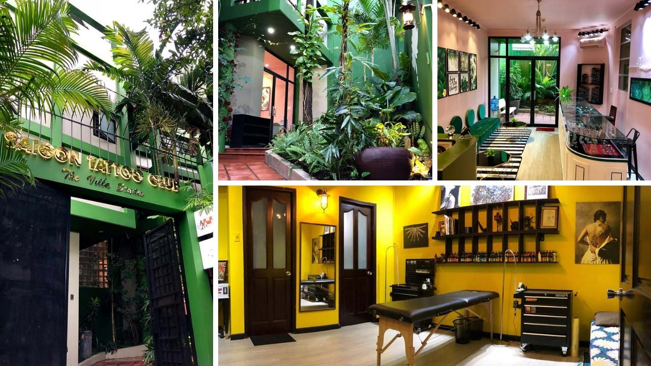 Không gian xanh tại Saigon Tattoo Club - The Villa Tattoo Studio