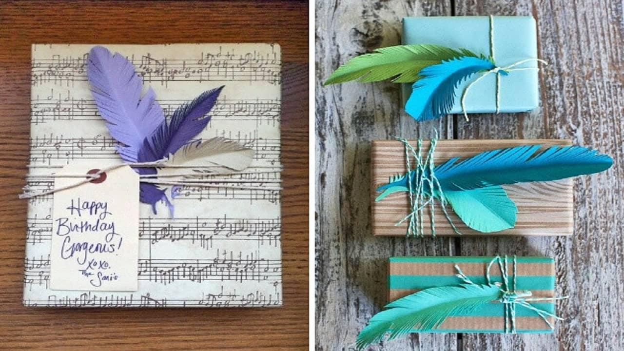 Dùng lông vũ cho những món quà handmade