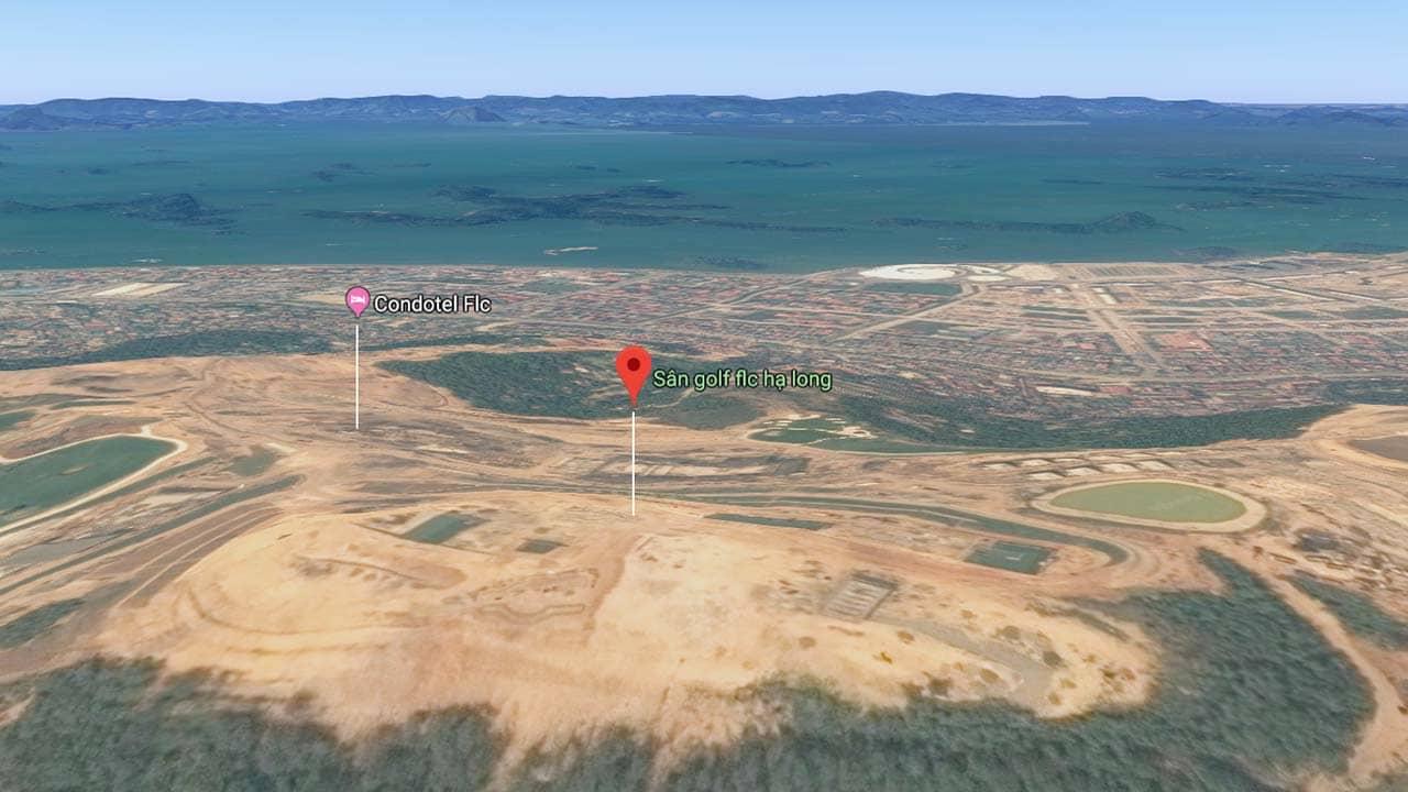 Sân Golf nằm trên khu đồi cao, có view nhìn thẳng ra vịnh Hạ Long. Nguồn: Internet