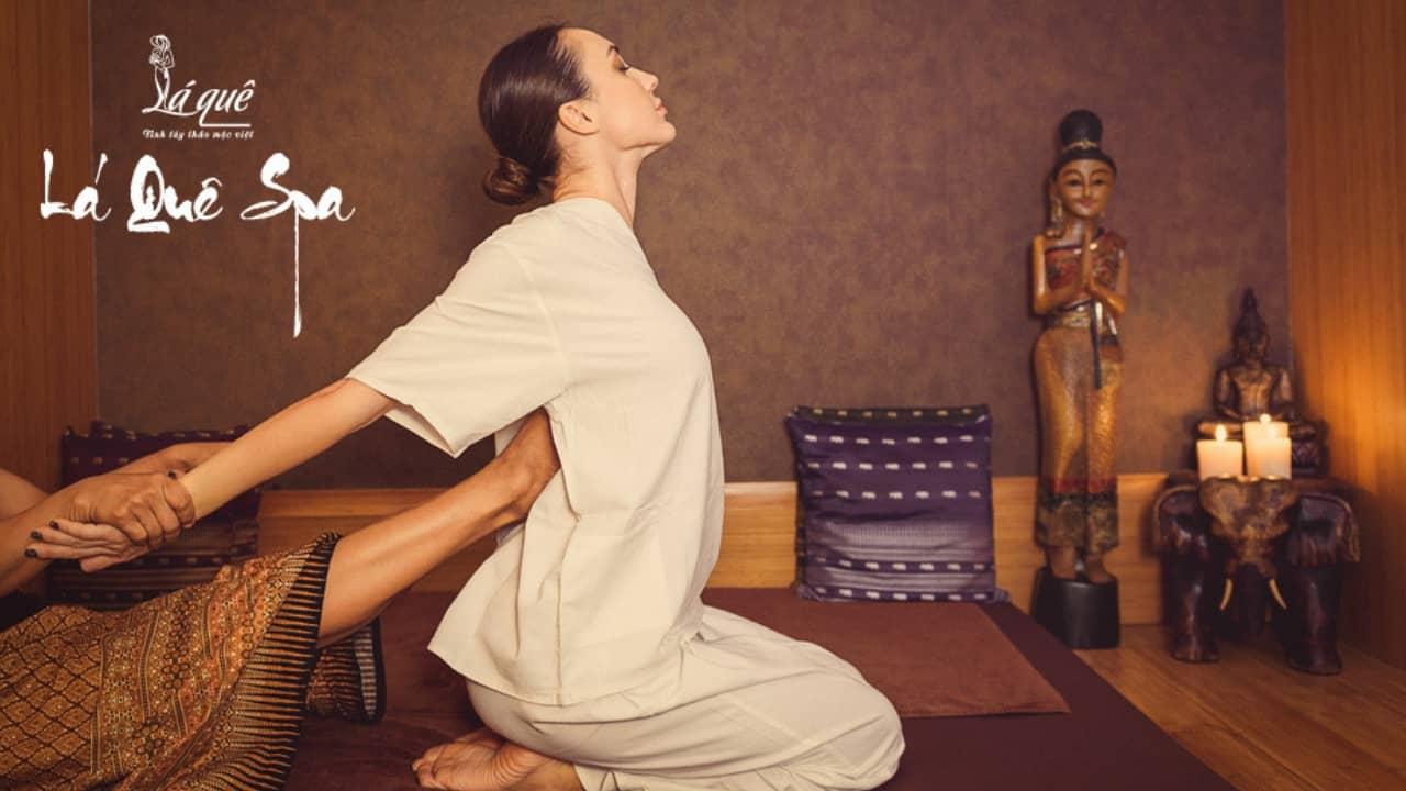 Phòng massage Thái tại Spa Lá Quê