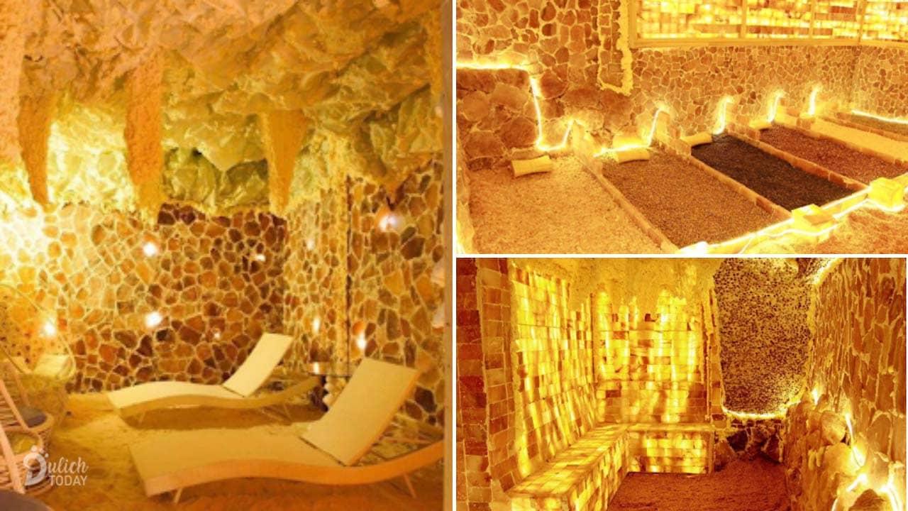 Iris Kim Spa là địa chỉ xông hơi đá muối Hà Nội độc đáo với những phòng được thiết kế như hang động thiên nhiên