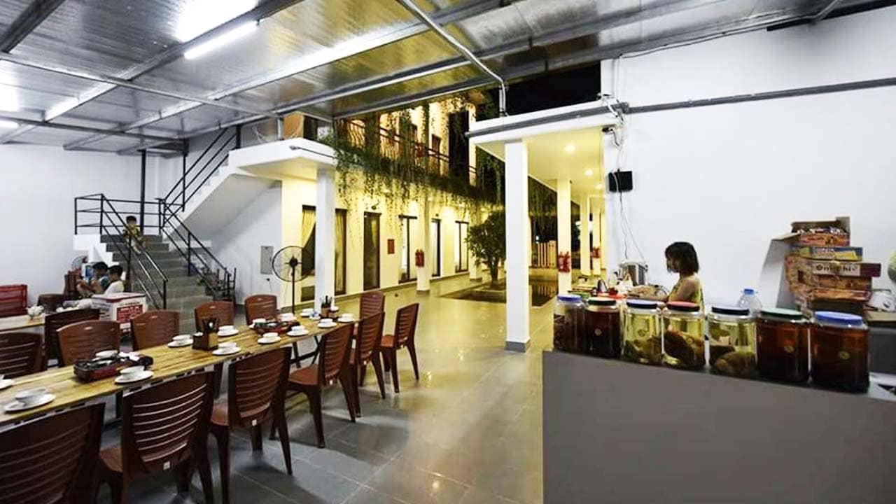 Nhà hàng tại homestay Cô Tô Haki. Nguồn: Internet