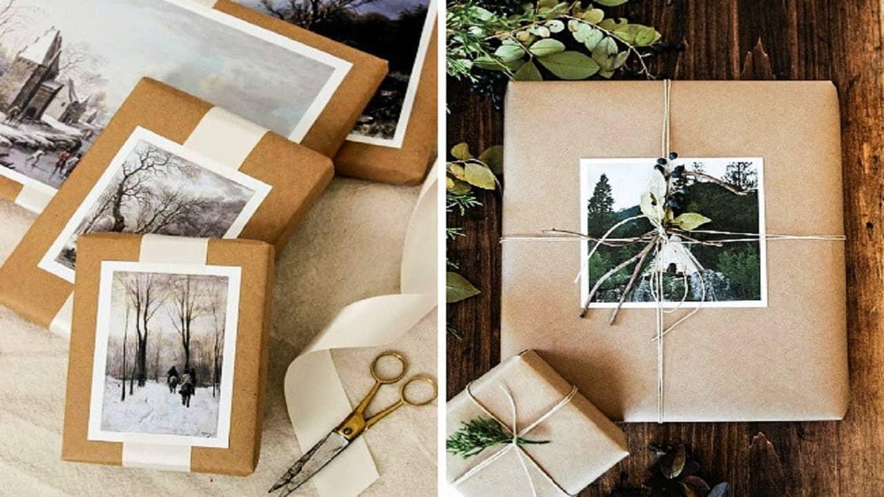 Sử dụng hình ảnh và bưu thiếp để làm đồ trang trí