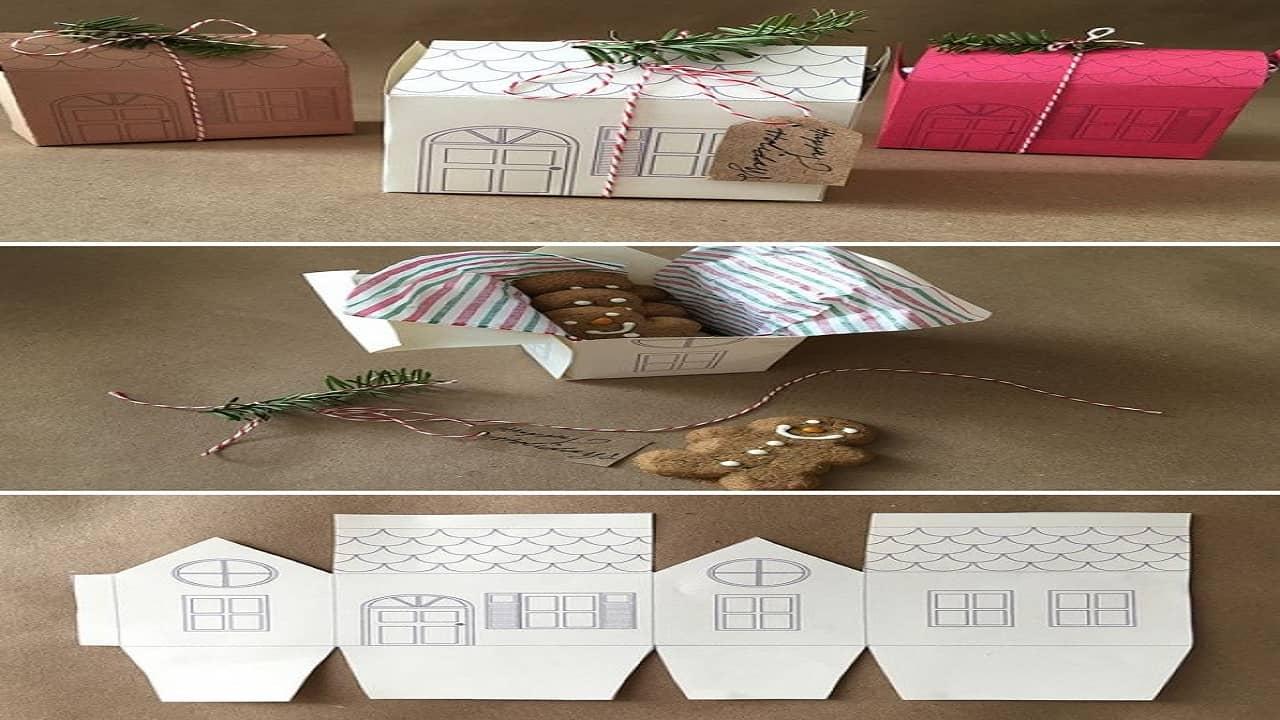 Sử dụng hộp quà bằng ngôi nhà mini cho các mẫu là cây cảnh, hoa hồng mini