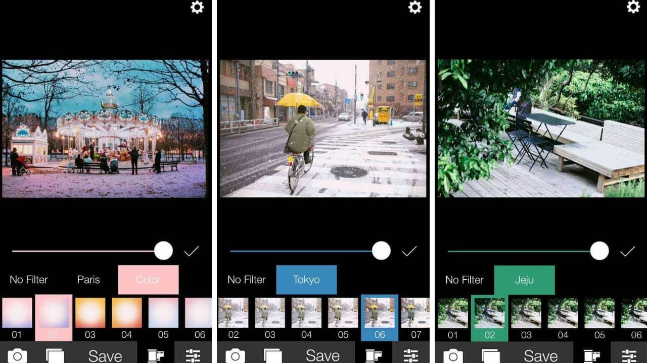 Analog cho những tông màu khác nhau tương ứng với từng chủ đề như Paris, Tokyo, Jeju