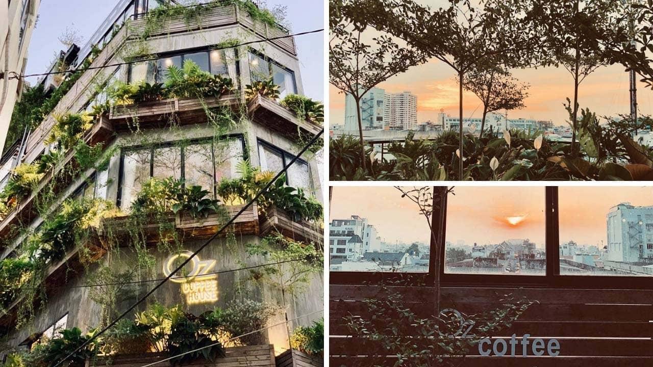 OZ Coffee House - khu vườn trên cao thu trọn hoàng hôn Sài Gòn
