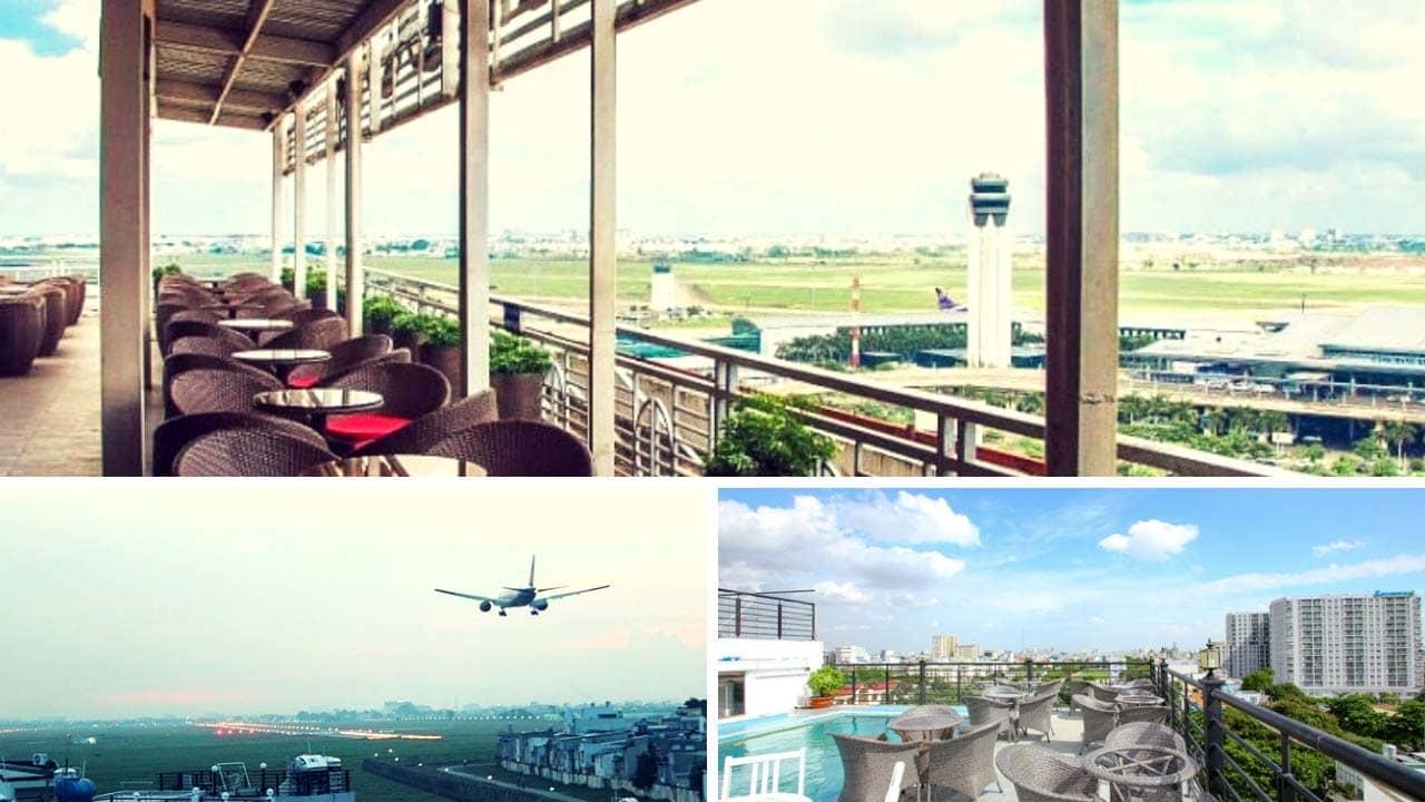 Moonlight cafe & lounge cà phê ngắm máy bay