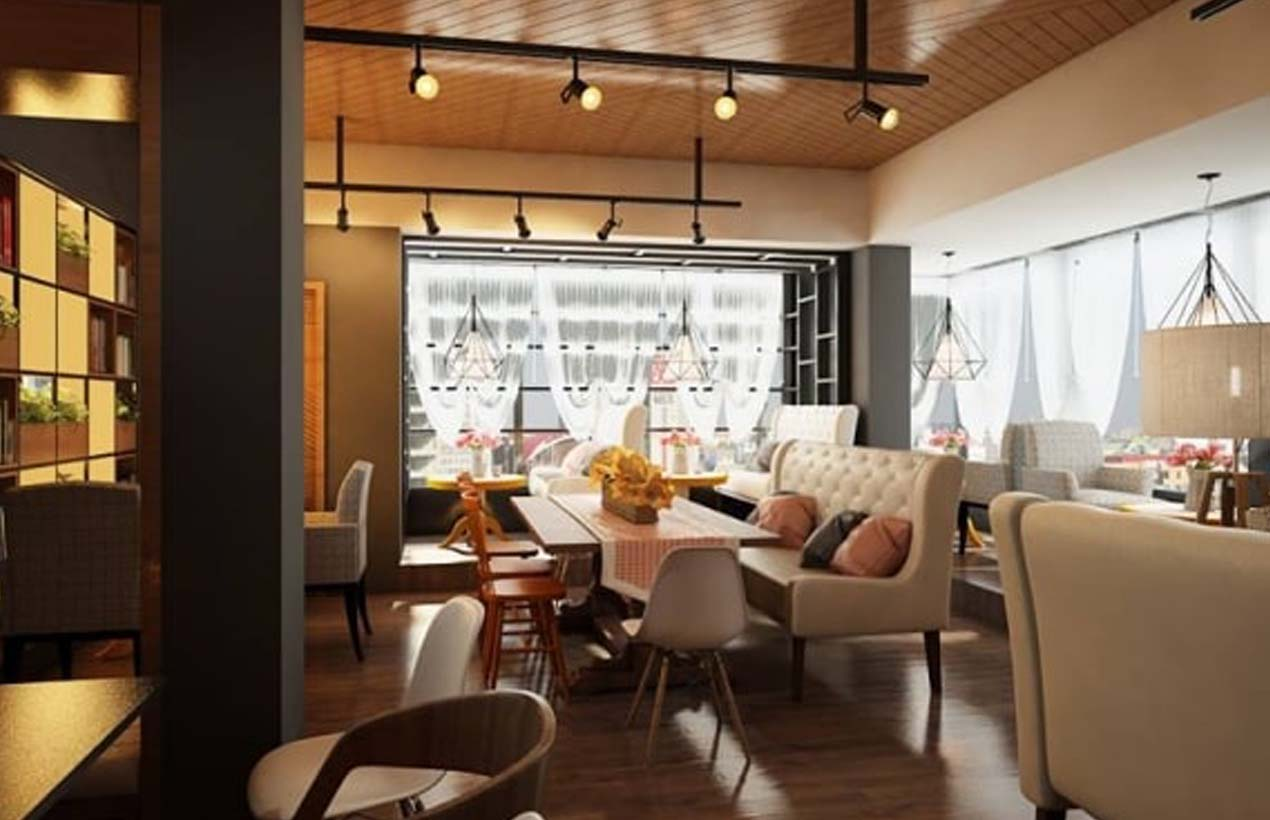 City Fox Bistro Cafe có không gian rộng rãi