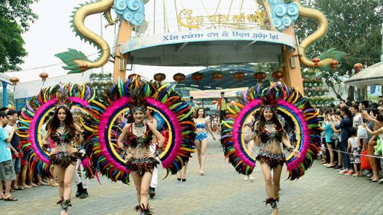 Nhiều hoạt động lễ hội đường phố sẽ diễn ra trong khuôn viên công viên nước