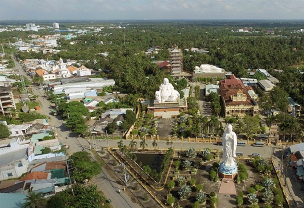 Khuôn viên chùa Vĩnh Tràng
