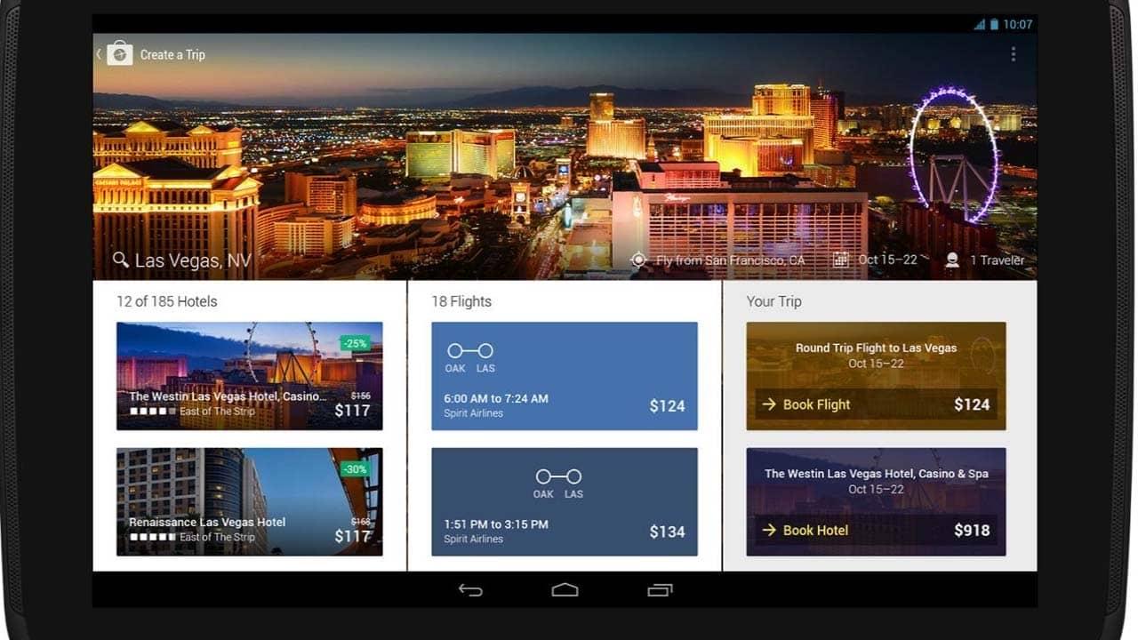 Expedia là ứng dụng tích hợp cả đặt phòng khách sạn và book vé máy bay, rất hay có nhiều combo ưu đãi. Nguồn: Internet