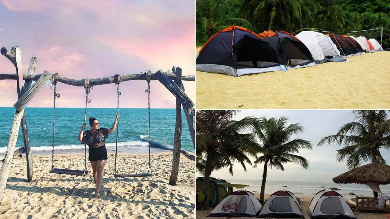 Hương Phong Resort Hồ Cốc với hoạt động cắm trại trên biển mang đến trải nghiệm du lịch hấp dẫn các bạn trẻ
