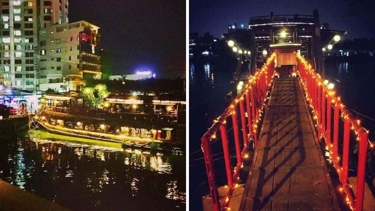 LaNgon Mía Quán - Cafe thuyền trên sông