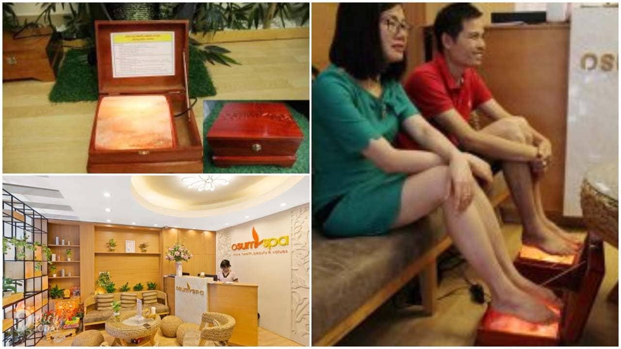 Osum Spa là địa chỉ massage chân Hà Nội kết hợp nguyên liệu đá muối Himalaya