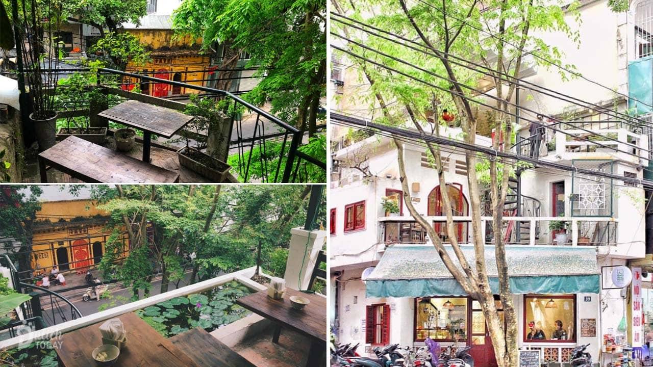 Lutulata là quán cafe view đẹp Hà Nội với 2 ban công nhìn xuống đường Hàng Cót cổ kính
