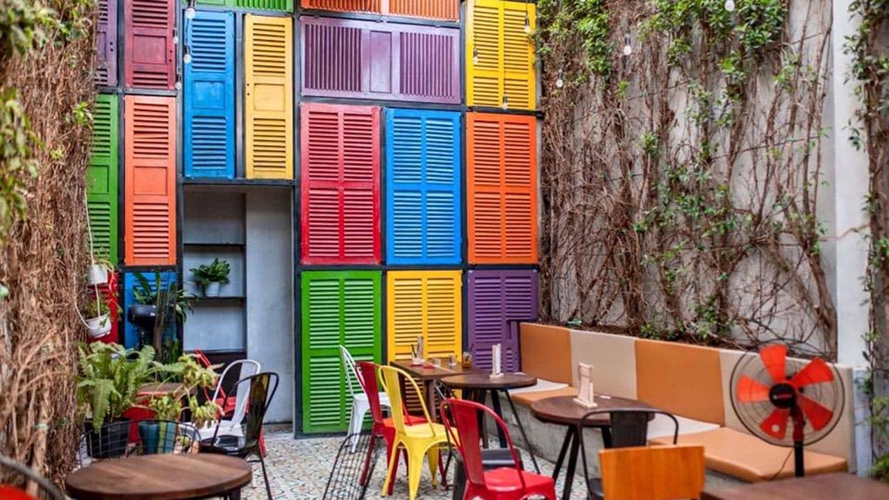 Không gian rộng rãi, yên tĩnh tại Parista The Cafe vào mỗi buổi sáng