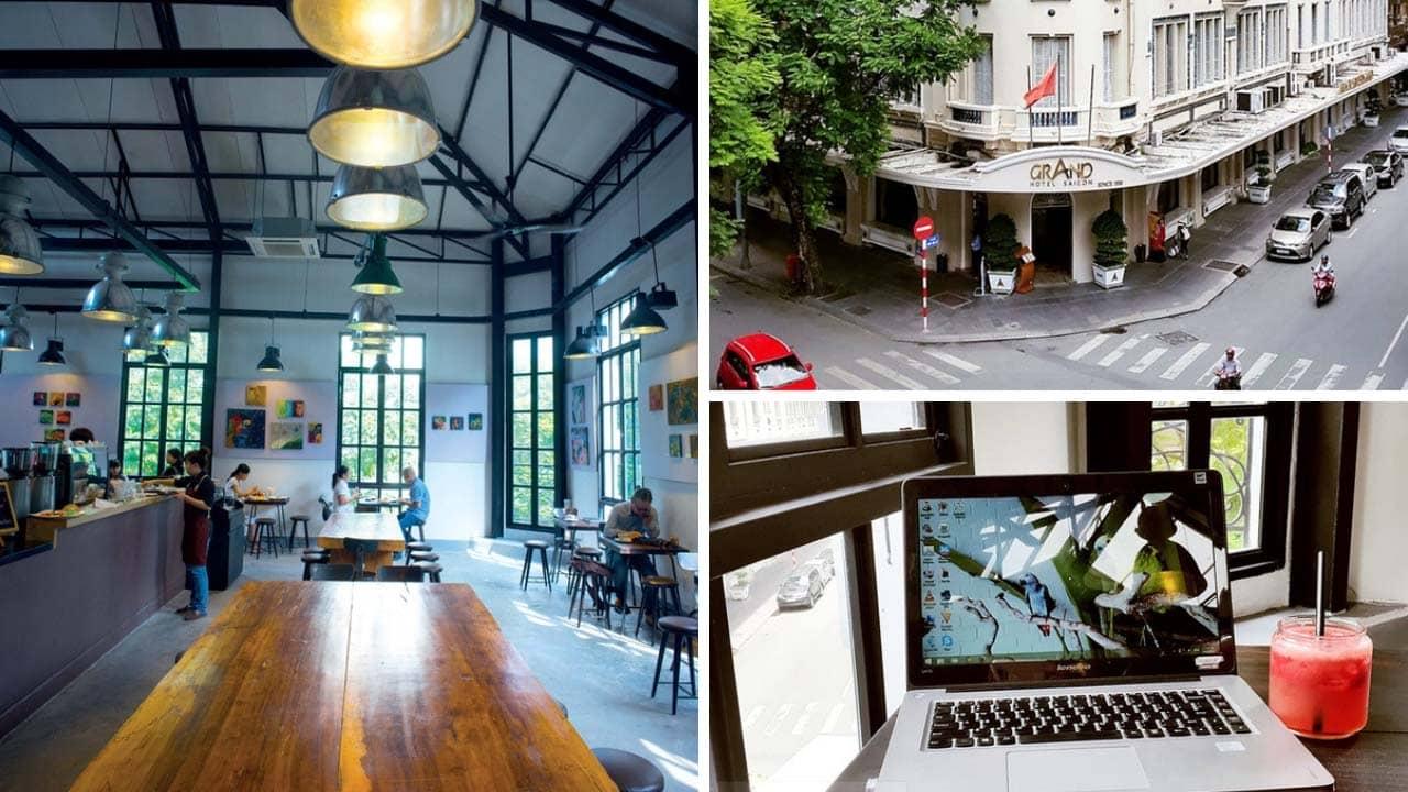 The Workshop cũng có một số bàn đơn ở gần cửa sổ để khách đến một mình có thể chọn được chỗ ngồi ưng ý với view thẳng xuống phố Đồng Khởi