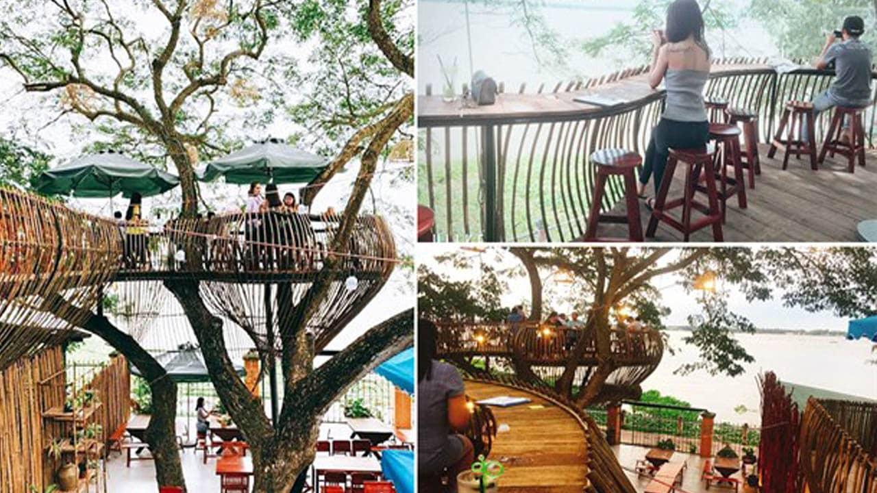 Nhưng góc sống ảo cực đẹp tại cafe sông Thơ