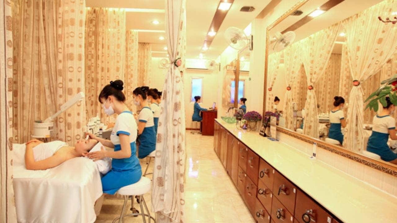 Không gian dành cho các trị liệu về da tại thẩm mỹ viện Ngọc Dung Sài Gòn