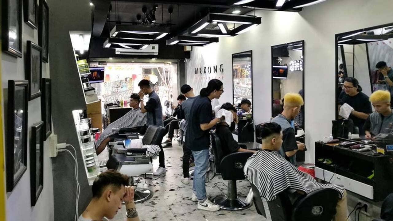 Mekong Barbershop tiệm cắt tóc, nhuộm tóc đẹp cho nam