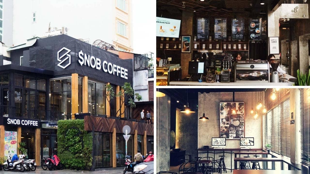 Snop Coffee cơ sở Trần Hưng Đạo nằm ở góc ngã từ Trần Hưng Đạo và Đề Thám