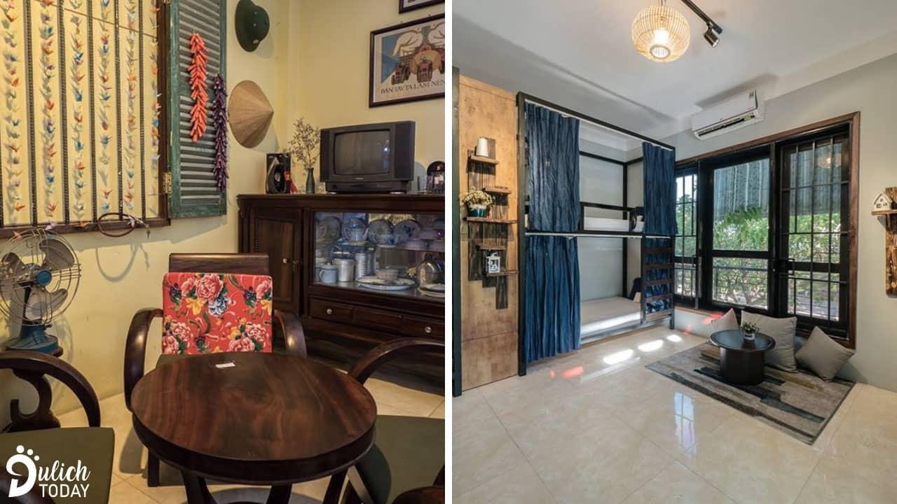 Hai phong cách khác nhau tại 1986 homestay Đà Nẵng: cổ xưa của những năm 80 và hiện đại