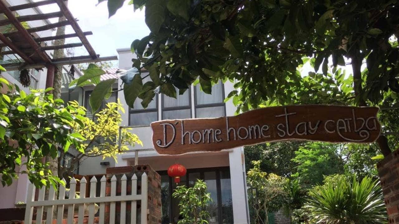 D'home Homestay Cát Bà xây dựng theo phong cách hiện đại, đơn giản, mộc mạc