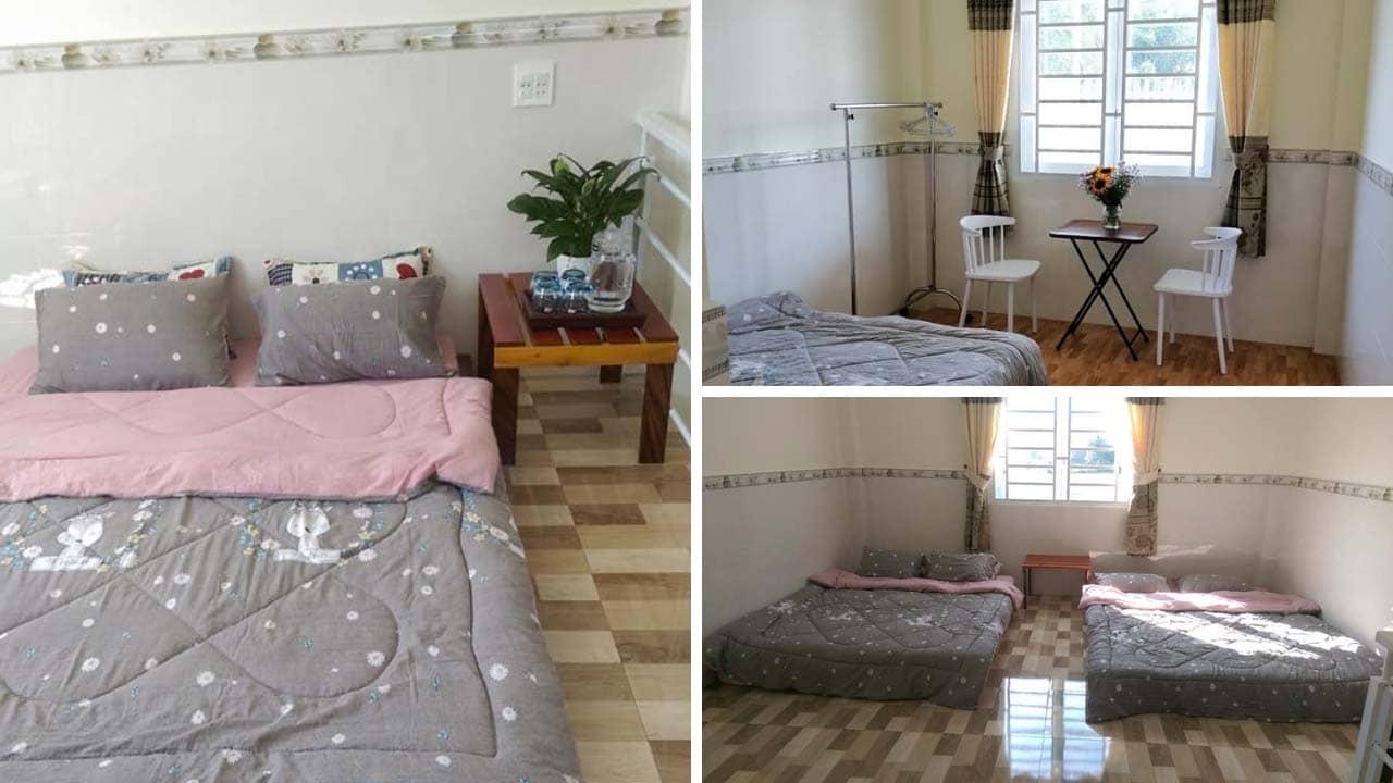 Phòng nghỉ tại Family Homestay Bảo Lộc