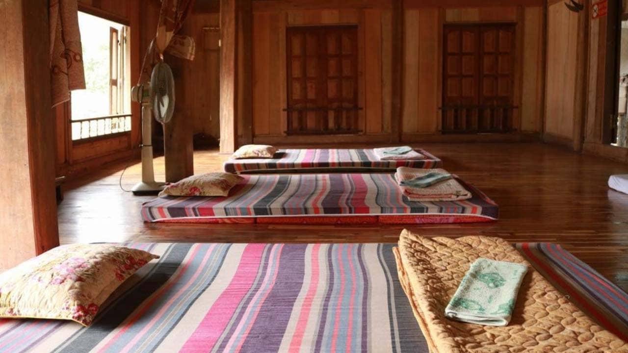 Phòng nghỉ tại Mai Châu Family homestay