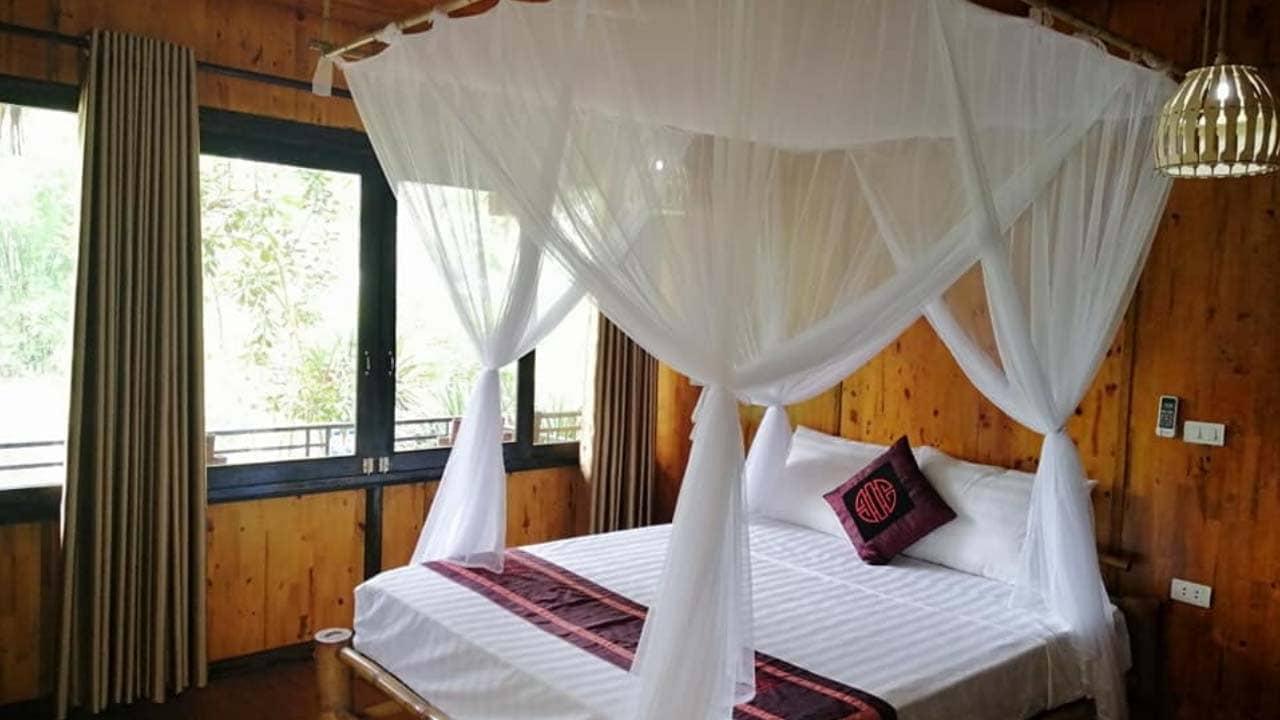 Phòng nghỉ tại Farm Mai Châu homestay