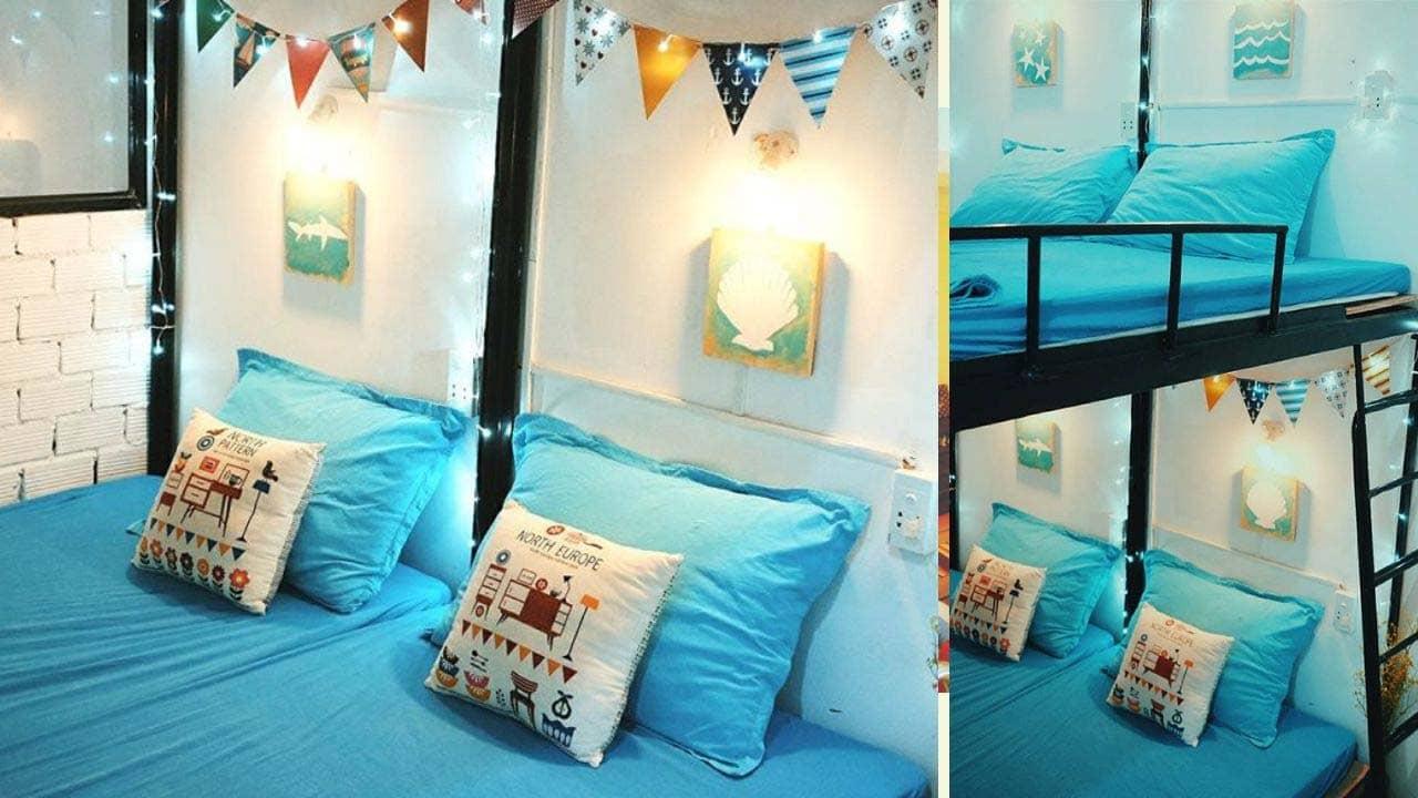 Happi Houzing là homestay theo dạng nhà nguyên căn với 2 phòng ngủ, 1 phòng khách thiết kế ấm áp gần gũi