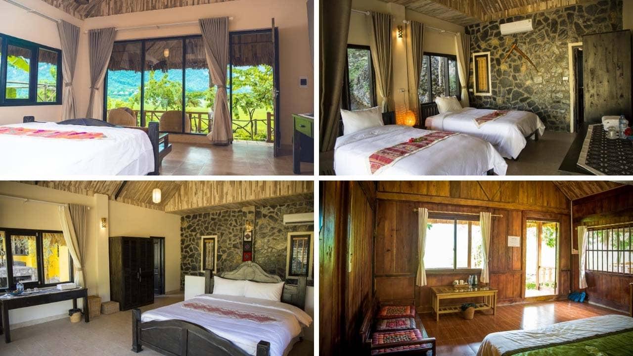 Mai Châu Nature Lodge có thiết kế phòng nghỉ đẹp nhất trong các homestay Mai Châu