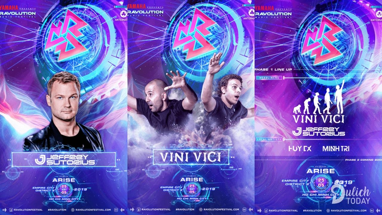 Ravolution Music Festival 2019 với sự tham gia của những DJ hàng đầu thế giới