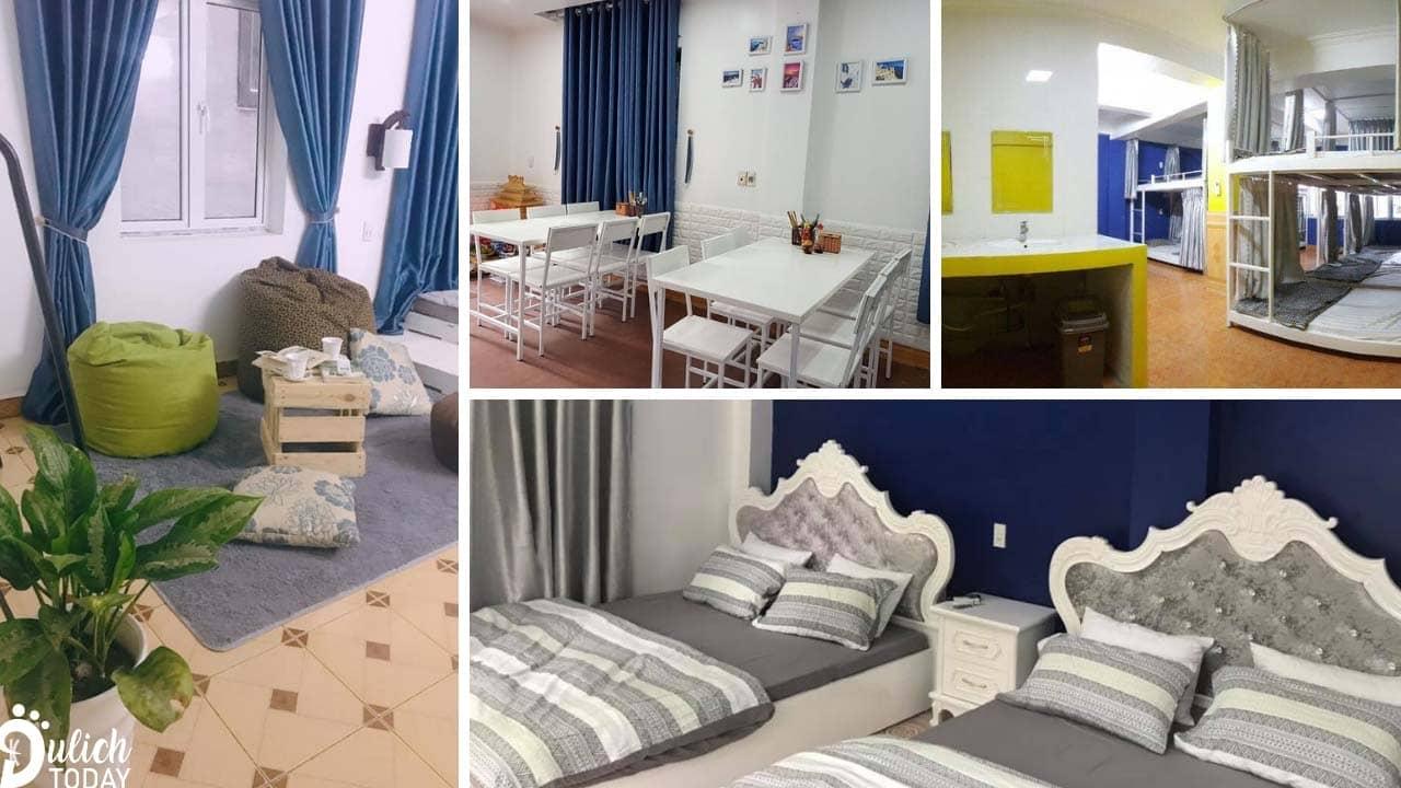Cat Ba Santorini Homestay sở hữu hệ thống phòng nghỉ đa dạng