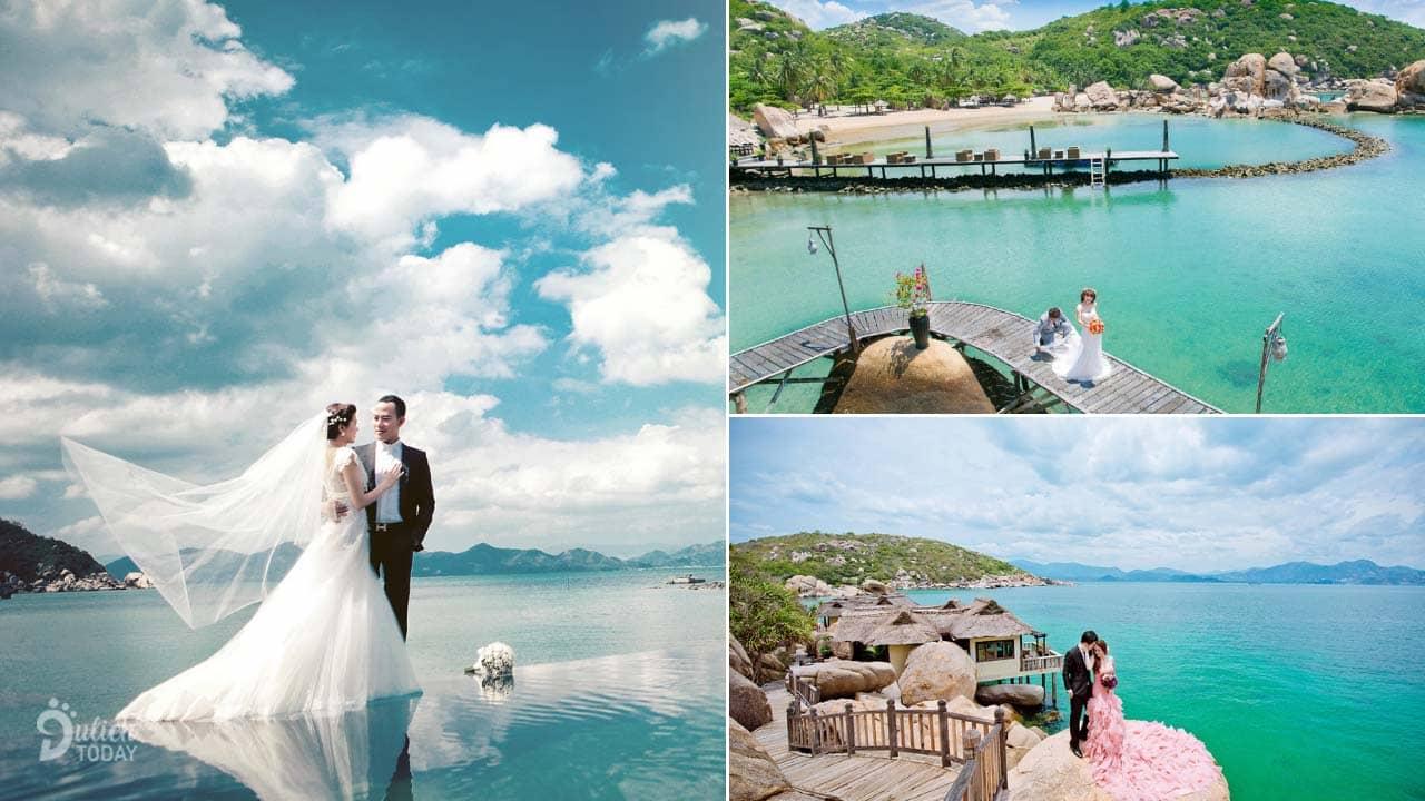 Chụp hình cưới ở resort Ngọc Sương