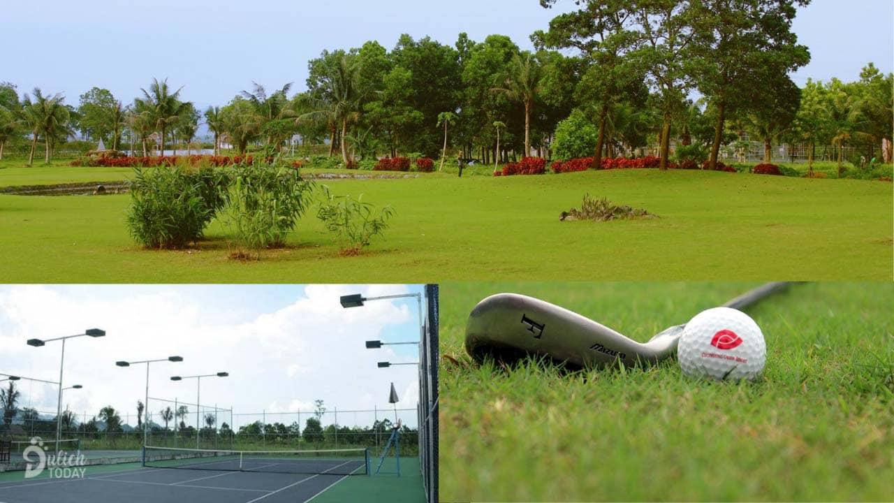 Quỹ đất rộng lớn tại resort Cúc Phương mang đến sân golf, sân tennis, sân bóng phục vụ du khách