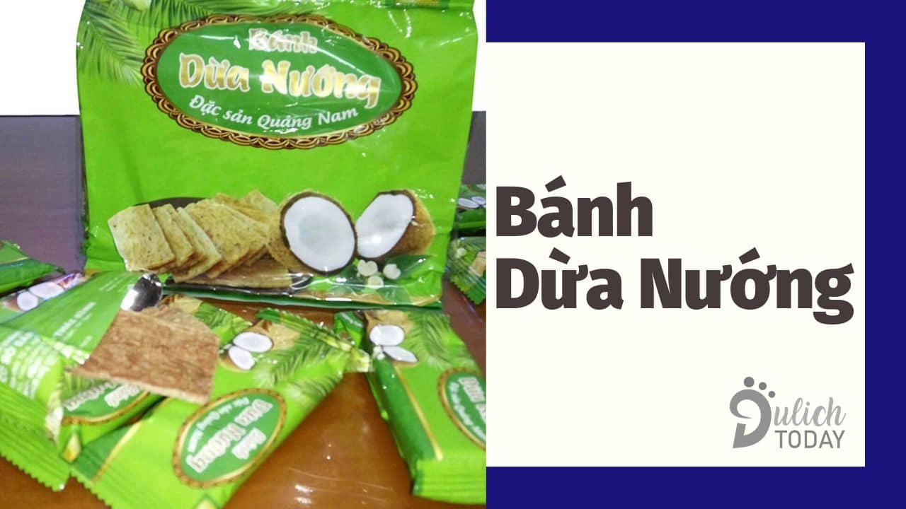 Bánh dừa nướng Quảng Nam với hương vị bùi béo ngon lành dễ ăn