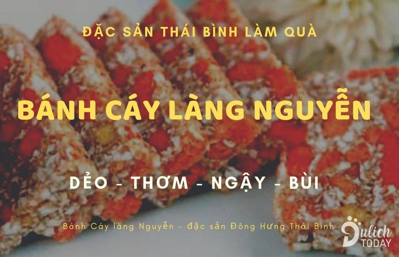 Bánh cáy Làng Nguyễn: đặc sản Thái Bình nổi danh cả nước