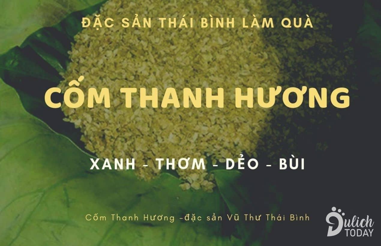 Cốm Thanh Hương - đặc sản quê lúa Thái Bình