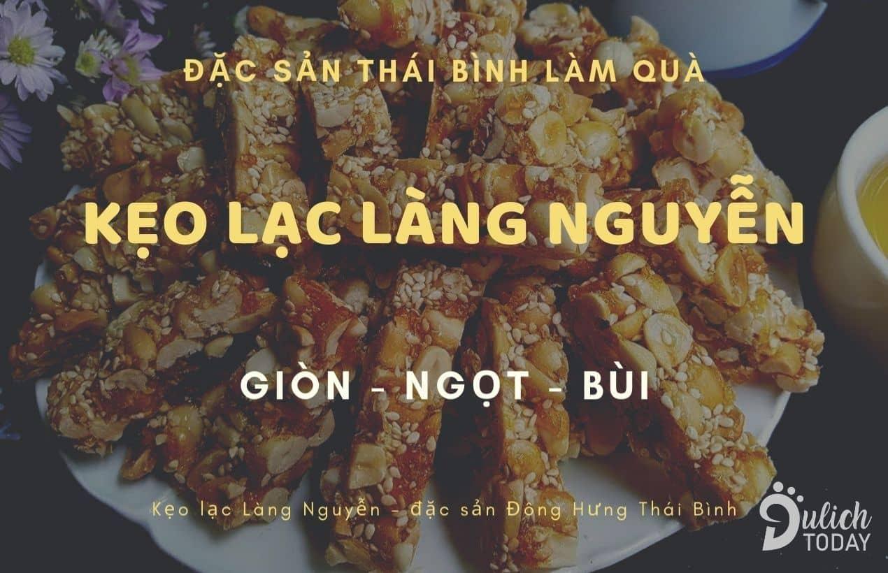 Kẹo Lạc làng Nguyễn giòn - ngọt - bùi - thơm