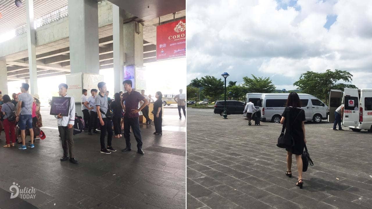 ahalong.com Nhân viên và xe đón mình ở sân bay Phú Quốc