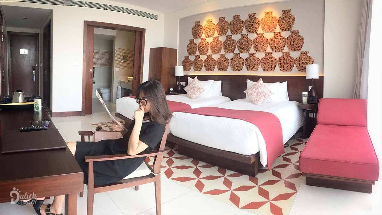 Phòng có thêm 1 extra bed ahalong.com