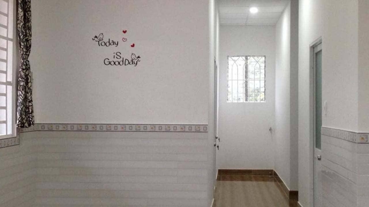 Phòng nghỉ thiết kế đơn giản, sạch sẽ tại HDP homestay Bảo Lộc